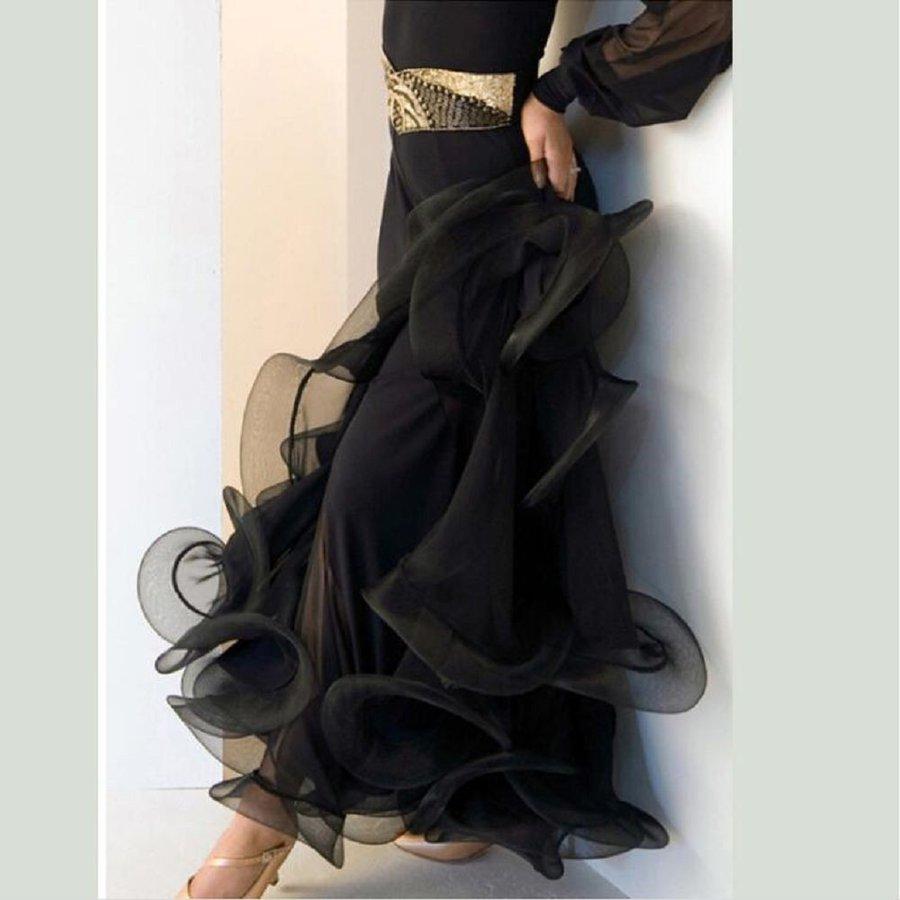 オーダーメード 社交ダンスドレス ラテンドレス モダンドレス ロングスカート ダンスウエア 競技 デモ ダンス衣装品01_画像2