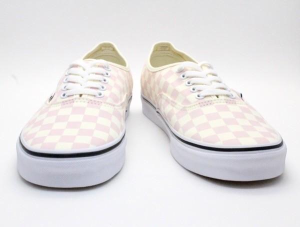 【USA購入 正規新品】VANSバンズ 28.0cm オーセンティックAUTHENTIC チェッカーボード ピンク オフホワイト 靴シューズ☆8e71_画像3