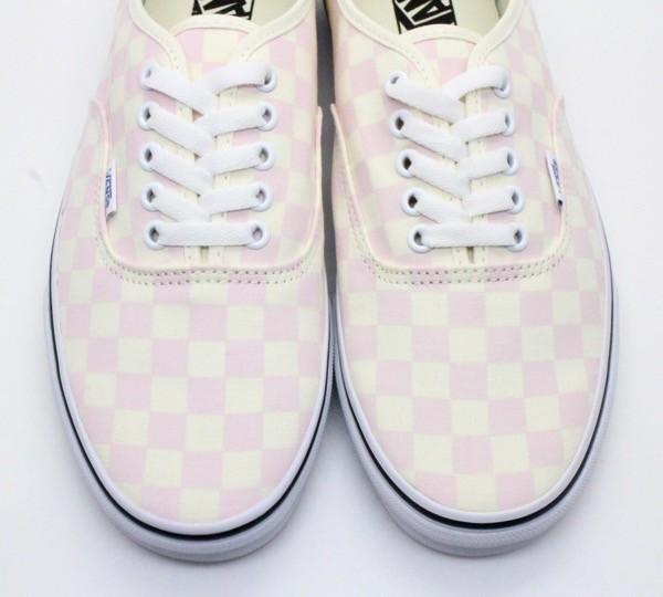 【USA購入 正規新品】VANSバンズ 28.0cm オーセンティックAUTHENTIC チェッカーボード ピンク オフホワイト 靴シューズ☆8e71_画像4