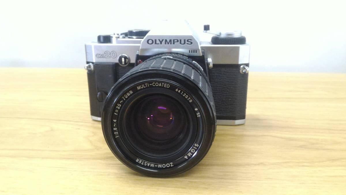 [KmY129]オリンパス フィルムカメラまとめ OLYMPUS OM20/OLYMPUS-PEN F/ZUIKOレンズ50-90㎜付き ジャンク品 80サイズ_画像2