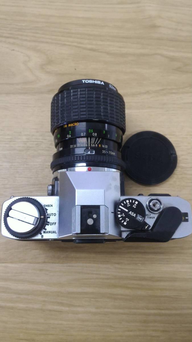 [KmY129]オリンパス フィルムカメラまとめ OLYMPUS OM20/OLYMPUS-PEN F/ZUIKOレンズ50-90㎜付き ジャンク品 80サイズ_画像3