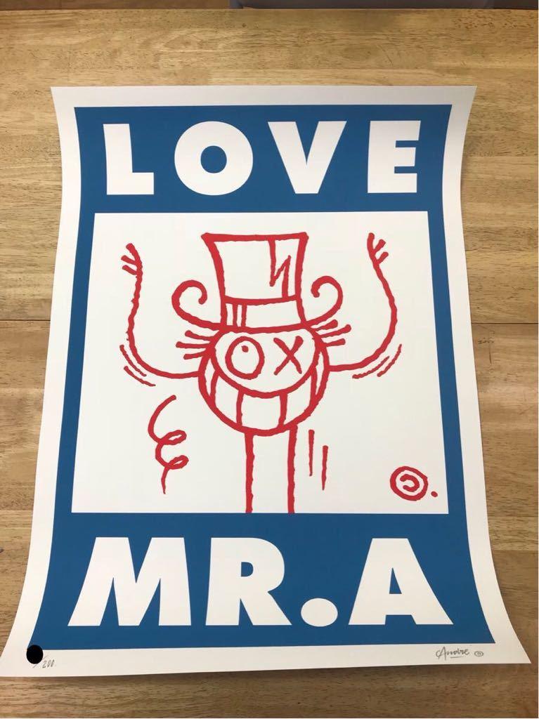 Andre Saraiva Mr.A LOVE MR.A kaws メディコムトイ ベアブリック banksy _画像3