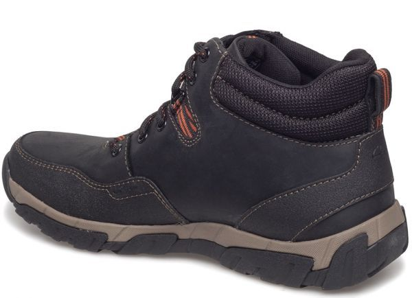 Clarks 27.5cm ブーツ ブラック 黒 レザー 革 防水 マウンテンブーツ レースアップ チャッカ ビジネス ローファー スニーカー H197_画像5