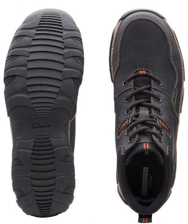 Clarks 27.5cm ブーツ ブラック 黒 レザー 革 防水 マウンテンブーツ レースアップ チャッカ ビジネス ローファー スニーカー H197_画像10