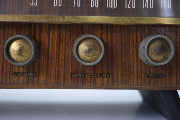 HE953 真空管ラジオ ビクター Victor ■昭和レトロ/ジャンク扱い/美品/ディスプレイ/オブジェ/部品取り/機器/スロデパ_画像4