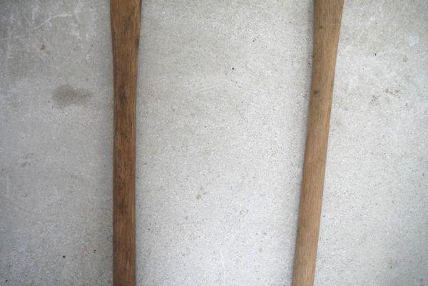OT2233 斧 2本 刃幅約7.5cm/7.2cm ■製材道具/大工道具/薪割り/工具/古民具/古道具/山師/時代/スロデパ_画像3