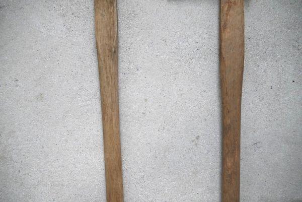 OT2233 斧 2本 刃幅約7.5cm/7.2cm ■製材道具/大工道具/薪割り/工具/古民具/古道具/山師/時代/スロデパ_画像8