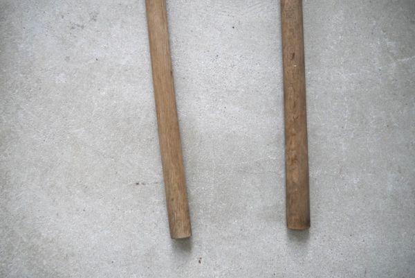 OT2233 斧 2本 刃幅約7.5cm/7.2cm ■製材道具/大工道具/薪割り/工具/古民具/古道具/山師/時代/スロデパ_画像9