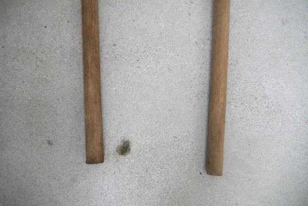 OT2233 斧 2本 刃幅約7.5cm/7.2cm ■製材道具/大工道具/薪割り/工具/古民具/古道具/山師/時代/スロデパ_画像4