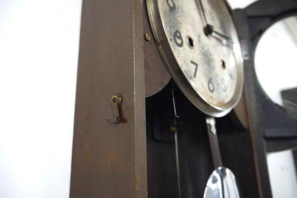 HE958 振り子時計 3個まとめて アイチ/MINUET ■ネジ巻付/ゼンマイ/ボンボン時計/柱時計/壁掛時計/古時計/インテリア/時代/スロデパ_画像10
