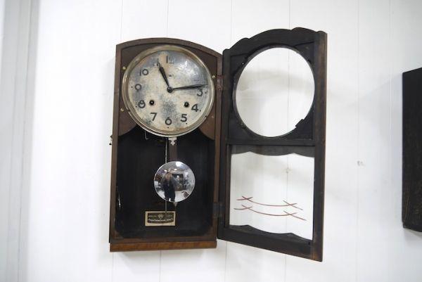 HE958 振り子時計 3個まとめて アイチ/MINUET ■ネジ巻付/ゼンマイ/ボンボン時計/柱時計/壁掛時計/古時計/インテリア/時代/スロデパ_画像5