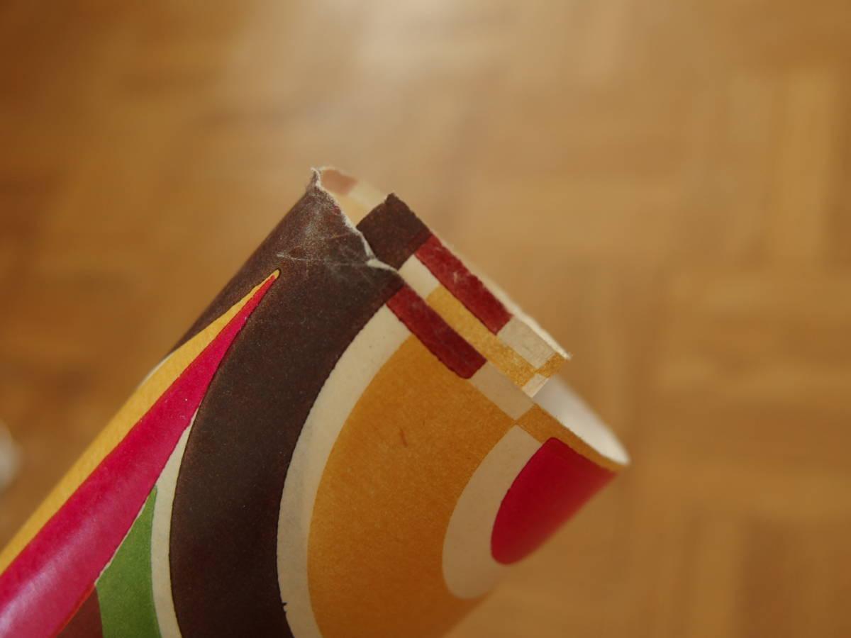 在庫わずか! スイス製 ヴィンテージ&レトロ ワックスペーパー,包装紙 (ザ!レトロ8)_端、エッジにシワあり。予めご了承ください
