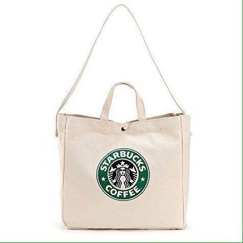 2WAY!台湾 スターバックス 韓国 中国 海外 トートバッグ ショルダーバッグ かばん 鞄 スタバ ポーチ A4 トラベルバッグ 旅行鞄 ロゴ大きめ_画像3