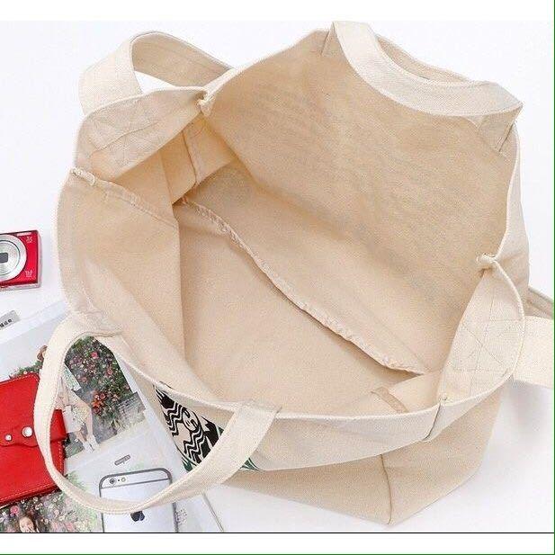 2WAY!台湾 スターバックス 韓国 中国 海外 トートバッグ ショルダーバッグ かばん 鞄 スタバ ポーチ A4 トラベルバッグ 旅行鞄 ロゴ大きめ_画像6