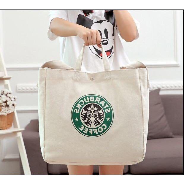 2WAY!台湾 スターバックス 韓国 中国 海外 トートバッグ ショルダーバッグ かばん 鞄 スタバ ポーチ A4 トラベルバッグ 旅行鞄 ロゴ大きめ_画像2