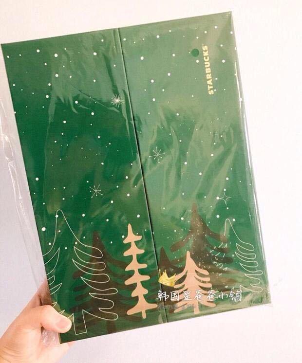 台湾 スターバックス 韓国 中国 海外 アドベントカレンダー クリスマス 2018 プレゼントボックス フィギュア ベアリスタ 熊 マスコット小物_画像3