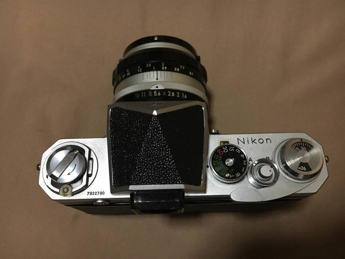 Nikon F フィルムカメラ 一眼レフ ボディ 初代 F 50mm f1.4 レンズ セット ニコンF 専用ケース,ストラップつき 露出計はおまけです_画像3