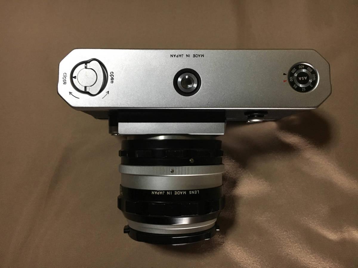 Nikon F フィルムカメラ 一眼レフ ボディ 初代 F 50mm f1.4 レンズ セット ニコンF 専用ケース,ストラップつき 露出計はおまけです_画像4