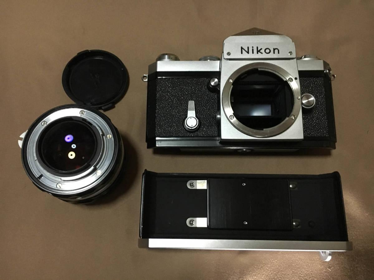 Nikon F フィルムカメラ 一眼レフ ボディ 初代 F 50mm f1.4 レンズ セット ニコンF 専用ケース,ストラップつき 露出計はおまけです_画像5