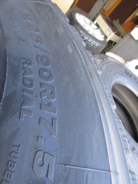 送料無料 スタッドレス 225/90R17.5 W910 新品 4トン TOPY 17.5×6.00 135-9 6穴 両面再塗装 6本セット_画像6