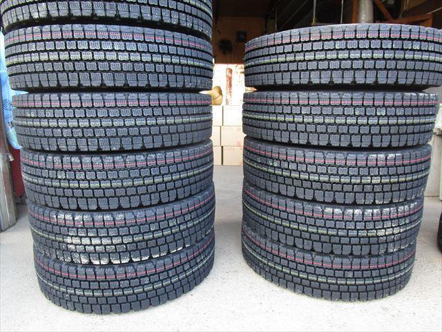 送料無料 スタッドレス 225/90R17.5 W910 新品 4トン TOPY 17.5×6.00 135-9 6穴 両面再塗装 6本セット_画像1