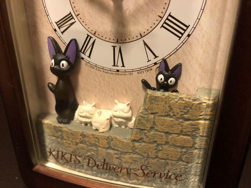 リズム時計 魔女の宅急便 置き時計 オルゴール 目覚まし時計 中古_画像2