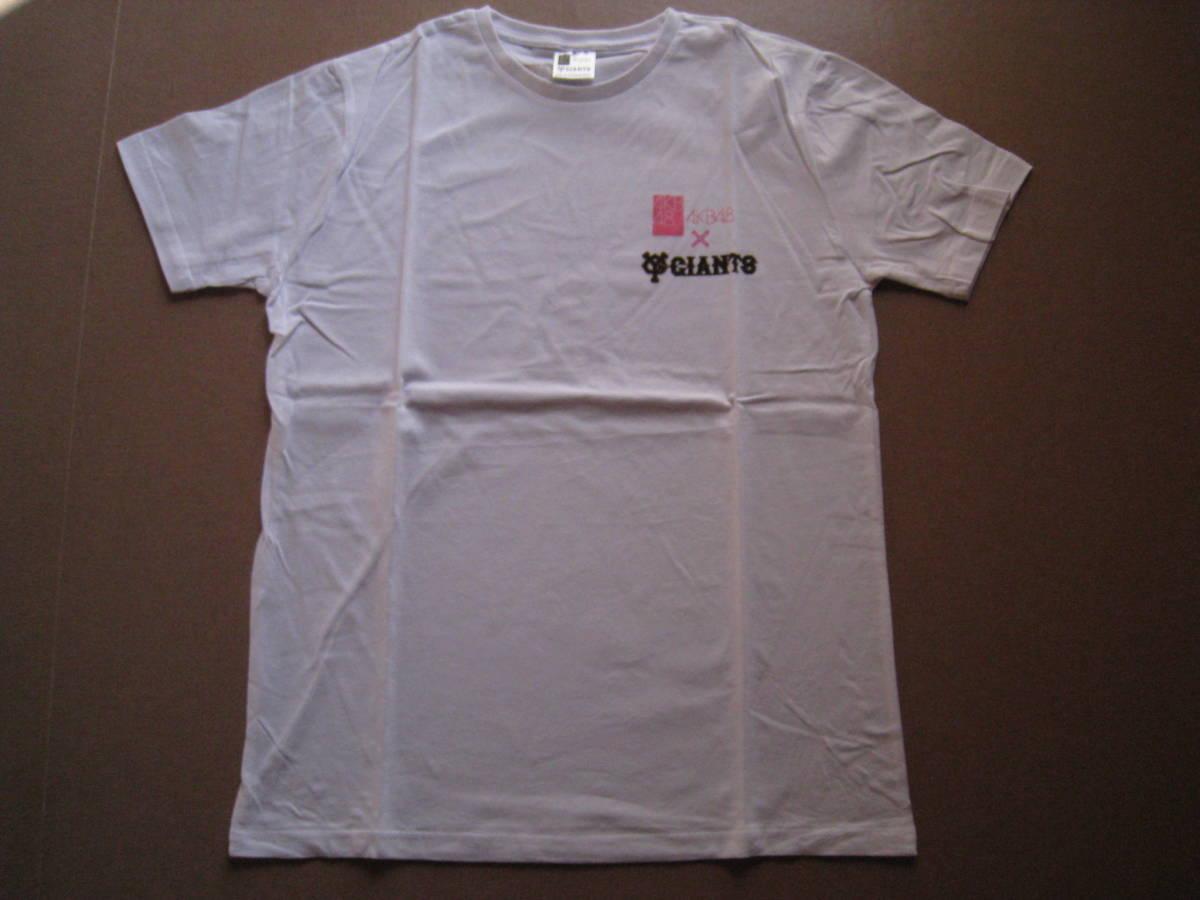 新品  読売ジャイアンツ×AKB48 半袖Tシャツ  白 フリーサイズ