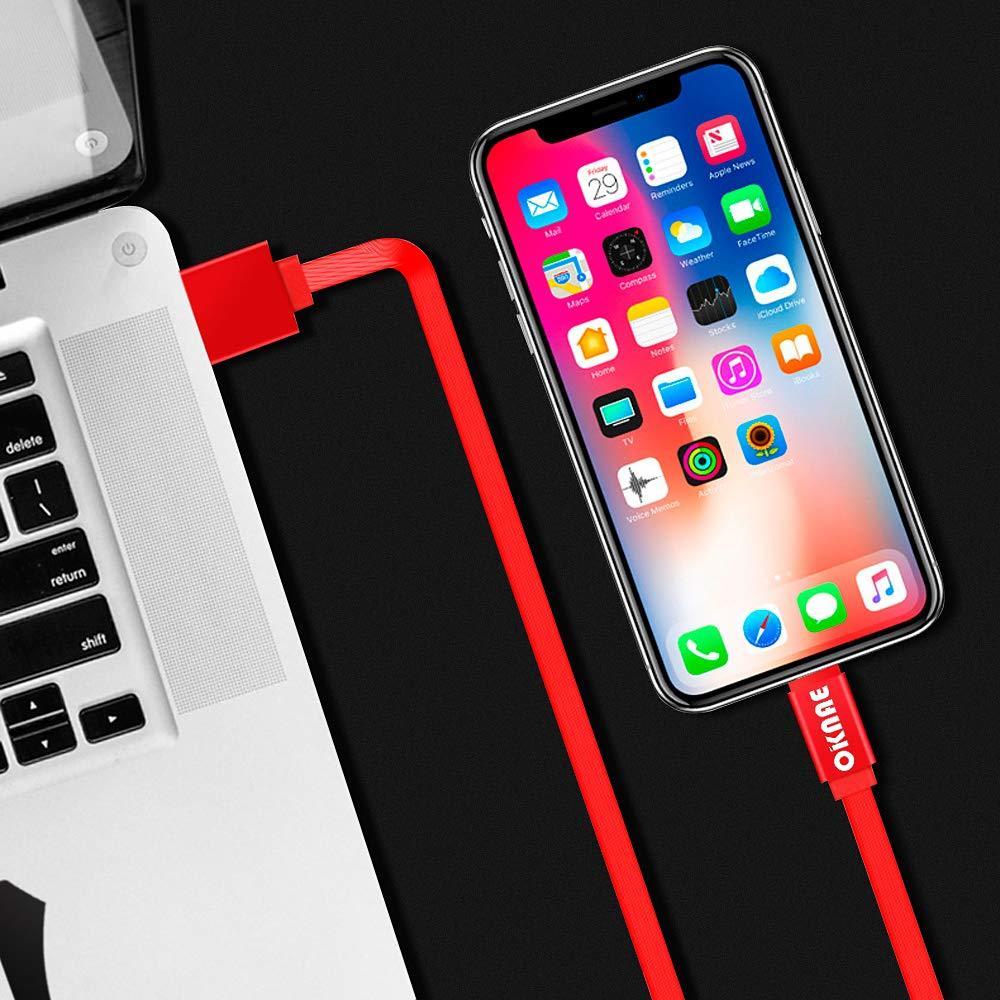 オーコニー USB 充電ケーブル コンパクト ライトニングケーブル 収納式 急速充電 高速データ転送 断線防止 耐久伸縮式 巻き取り式 5_画像6