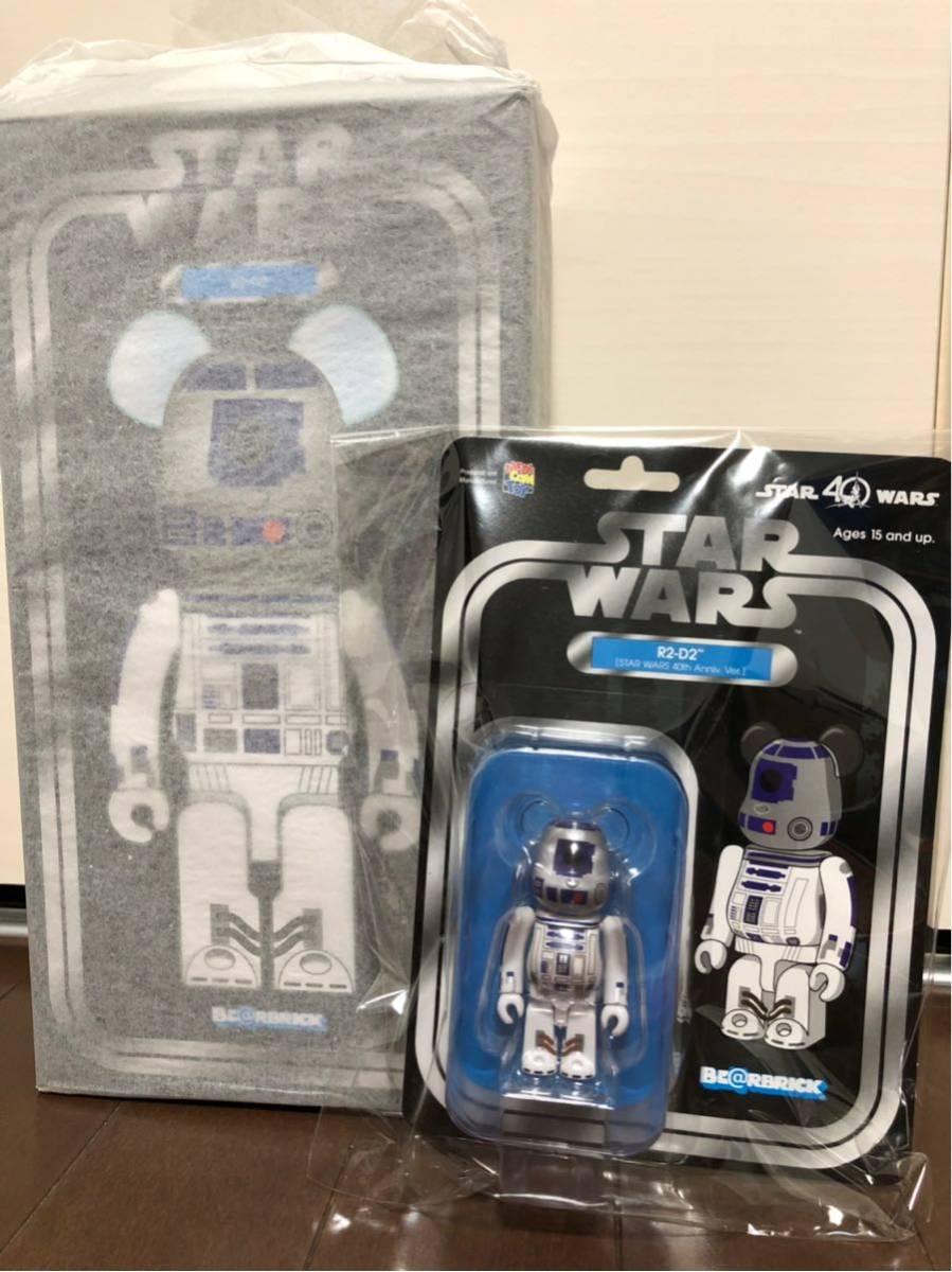 メディコムトイ MEDICOMTOY BE@RBRICK ベアブリック R2-D2(TM) 400% & 100%_画像1