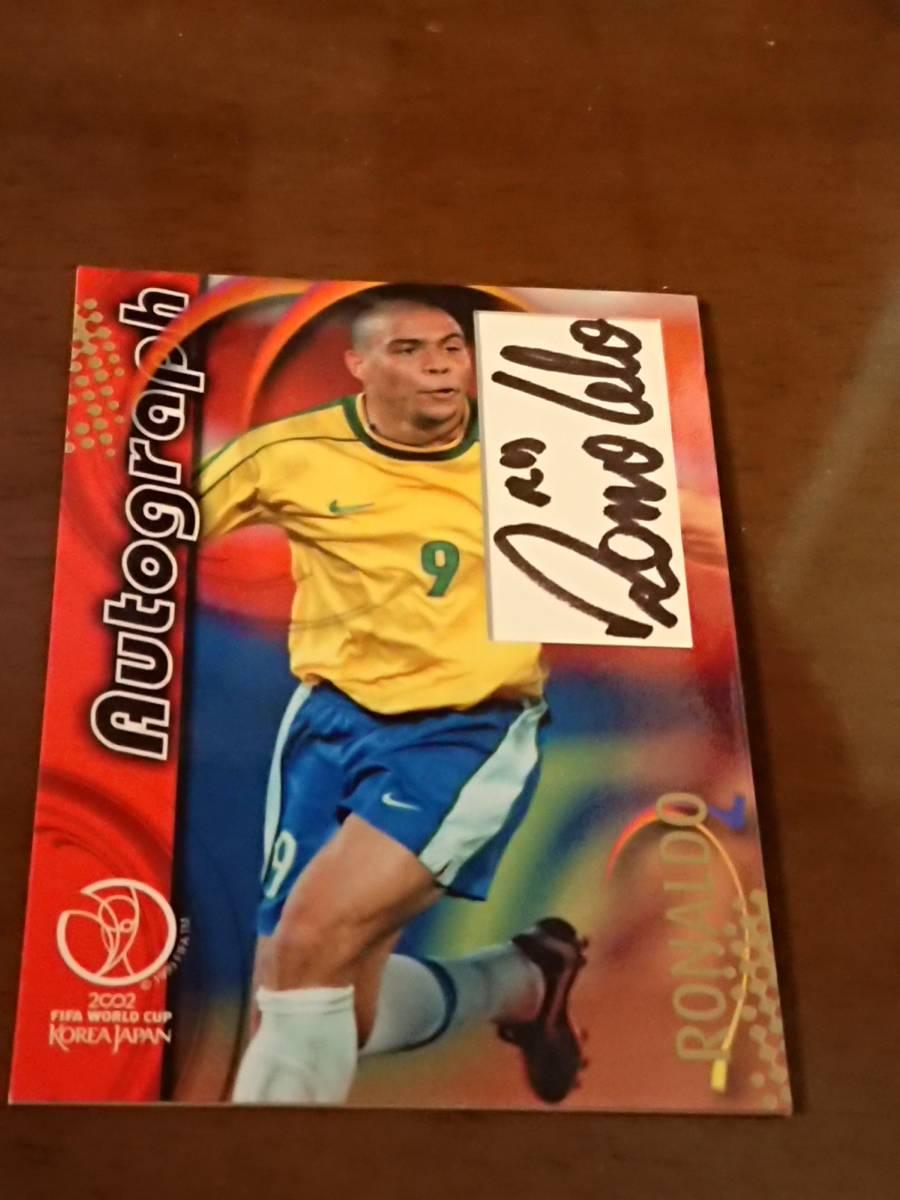 2002 FIFA WORLD CUP KOREA JAPAN Autograph ロナウド サイン