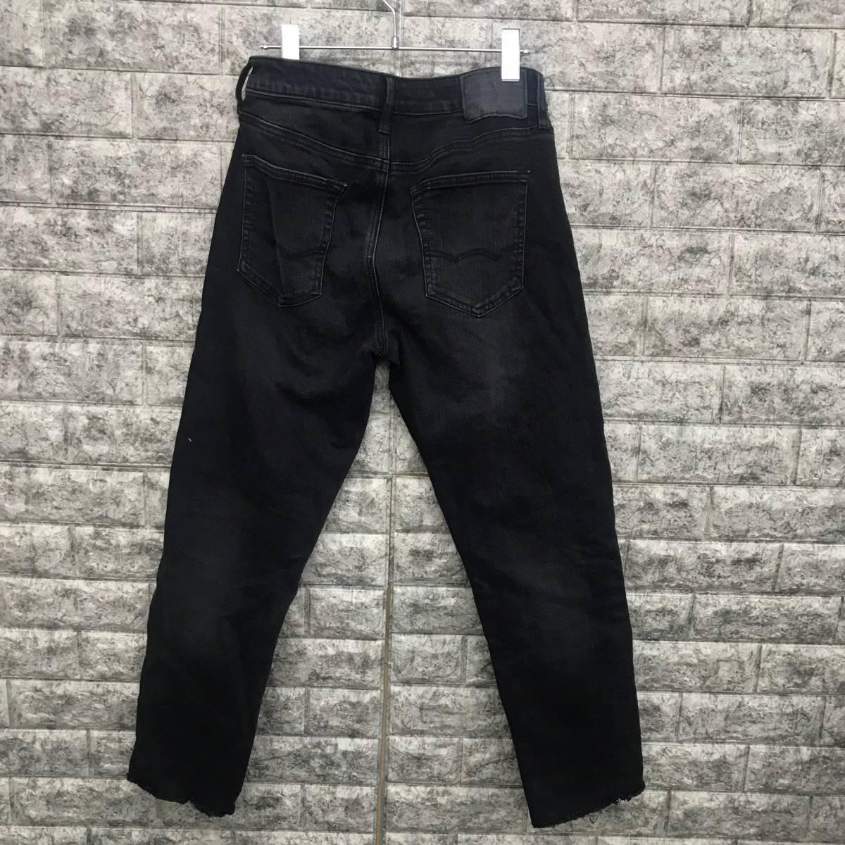 アメリカンイーグル メンズ ストレッチ ブラックデニム スキニーデニムパンツ ジーパン W30(US)