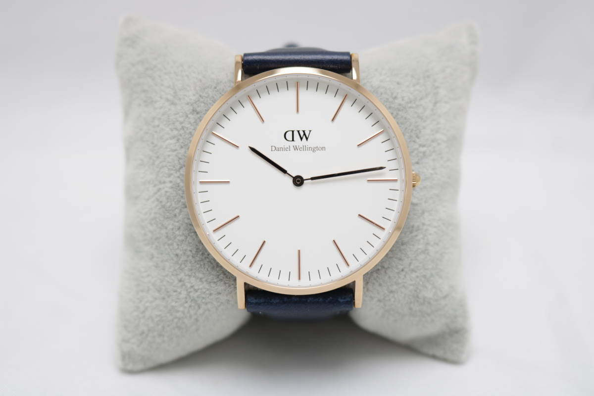 【美品/限定版】ダニエル・ウェリントン 腕時計 クラシック サマセット 40mm メンズ DW00100121 ローズゴールド×ネイビー so115