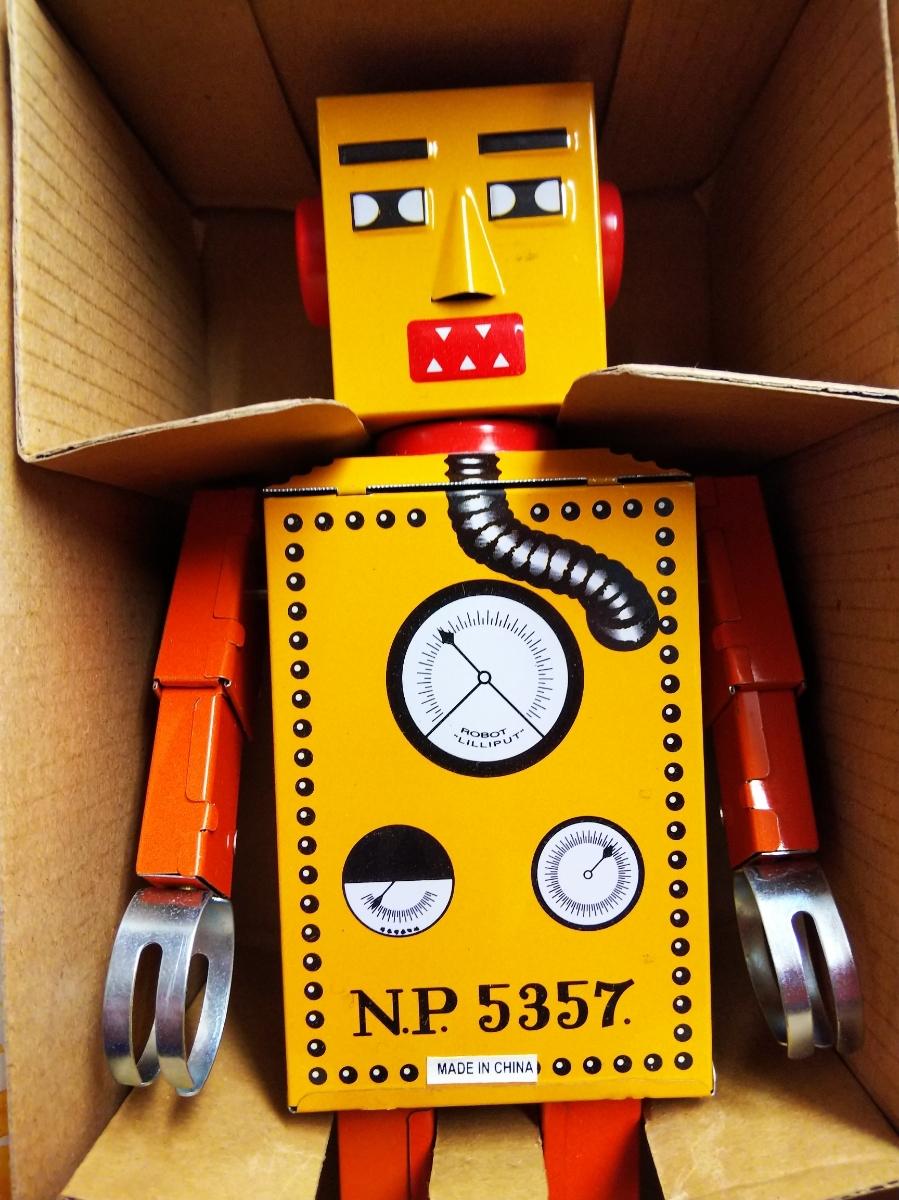 ブリキ ロボット フィギュア イリプット レトロ C 昭和レトロ_画像2