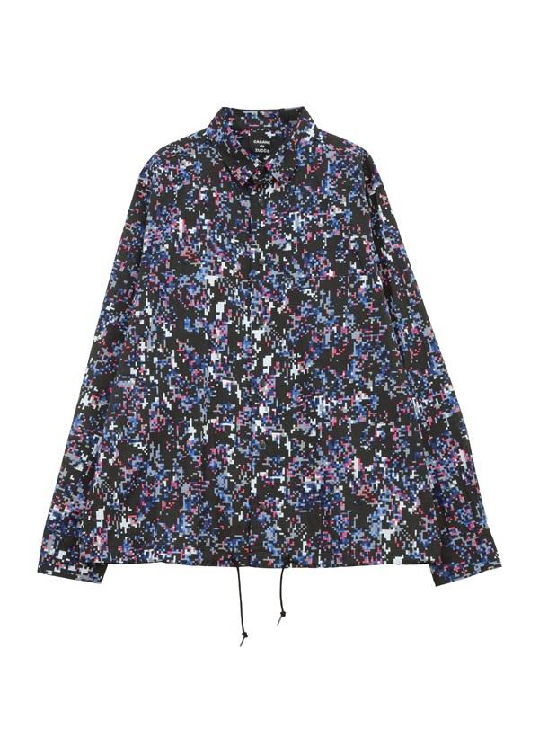 CABANE de ZUCCa Kabandozukka long-sleeved shirt mosaic batik M size bag de Zucca