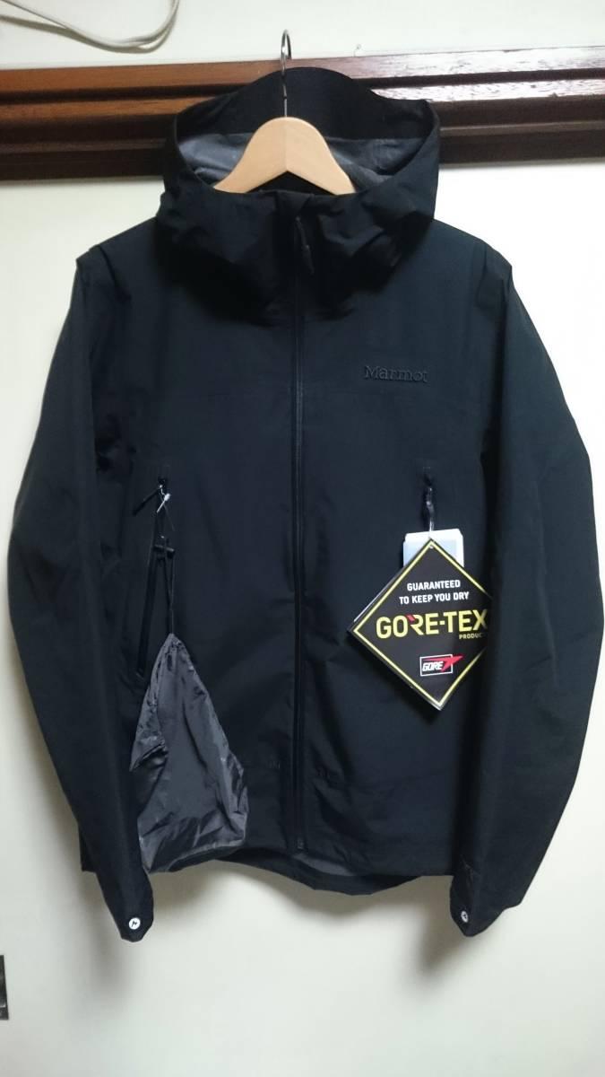 新品 国内正規品 Marmot マーモット Zp Comodo Jacket コモドジャケット 黒 GORE-TEX ゴアテクス L ナイロンジャケット マウンテンパーカー_画像1
