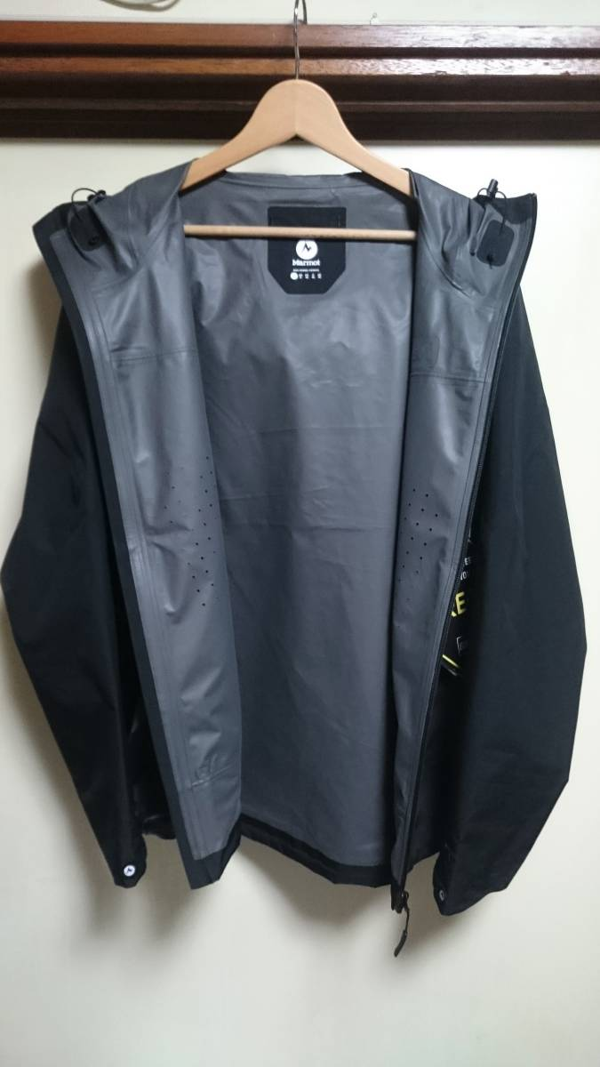 新品 国内正規品 Marmot マーモット Zp Comodo Jacket コモドジャケット 黒 GORE-TEX ゴアテクス L ナイロンジャケット マウンテンパーカー_画像3