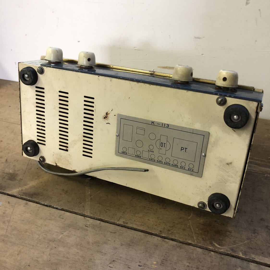 【ジャンク】 ナショナル 真空管 アンプ ラジオ midget amplifier ミッドナイト レトロ 昭和 アンティーク ヴィンテージ 部品取り_画像10