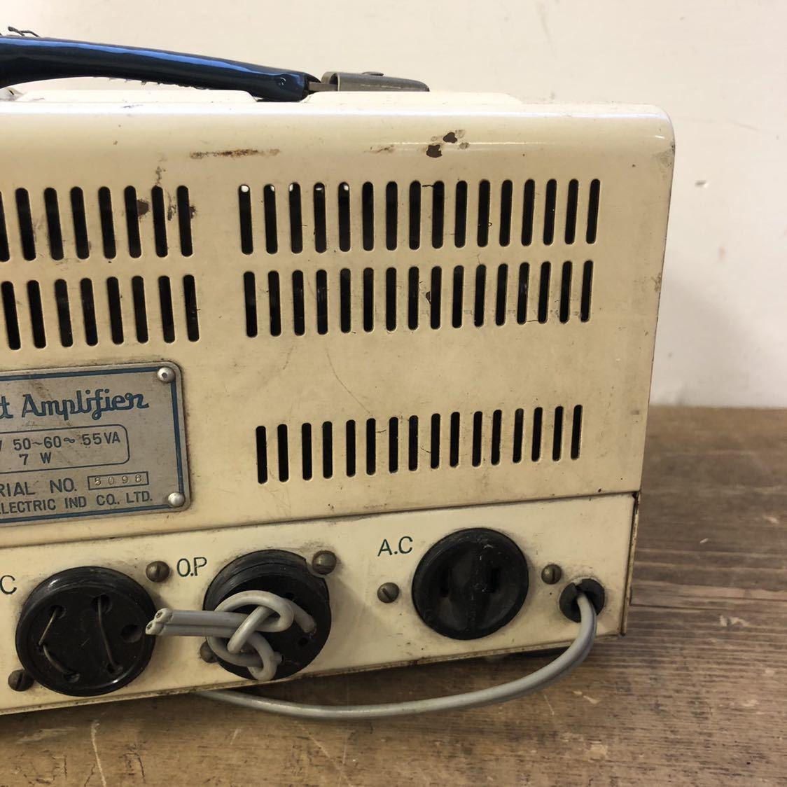 【ジャンク】 ナショナル 真空管 アンプ ラジオ midget amplifier ミッドナイト レトロ 昭和 アンティーク ヴィンテージ 部品取り_画像5