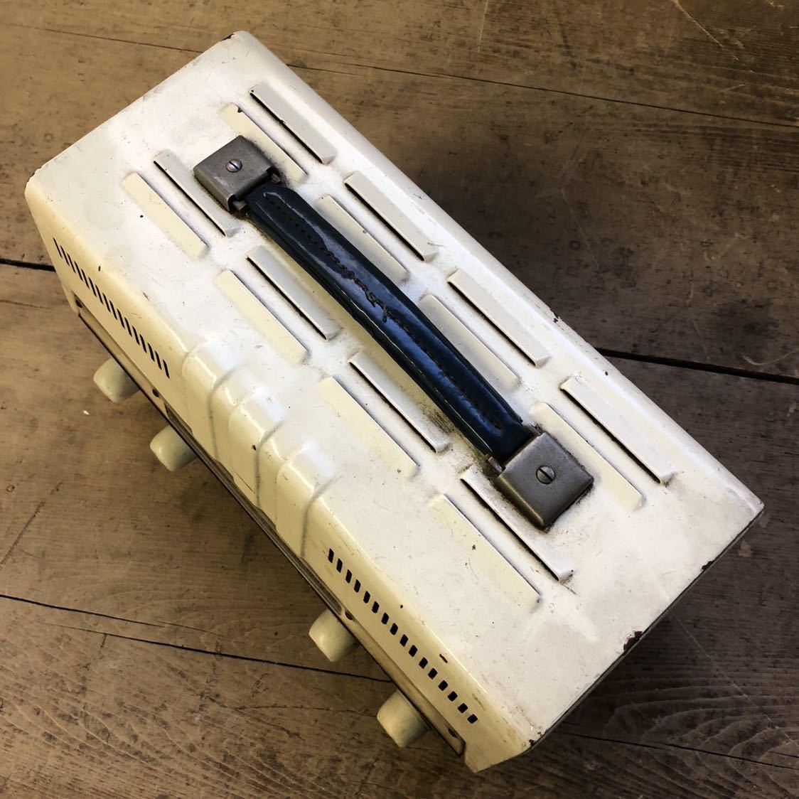 【ジャンク】 ナショナル 真空管 アンプ ラジオ midget amplifier ミッドナイト レトロ 昭和 アンティーク ヴィンテージ 部品取り_画像2