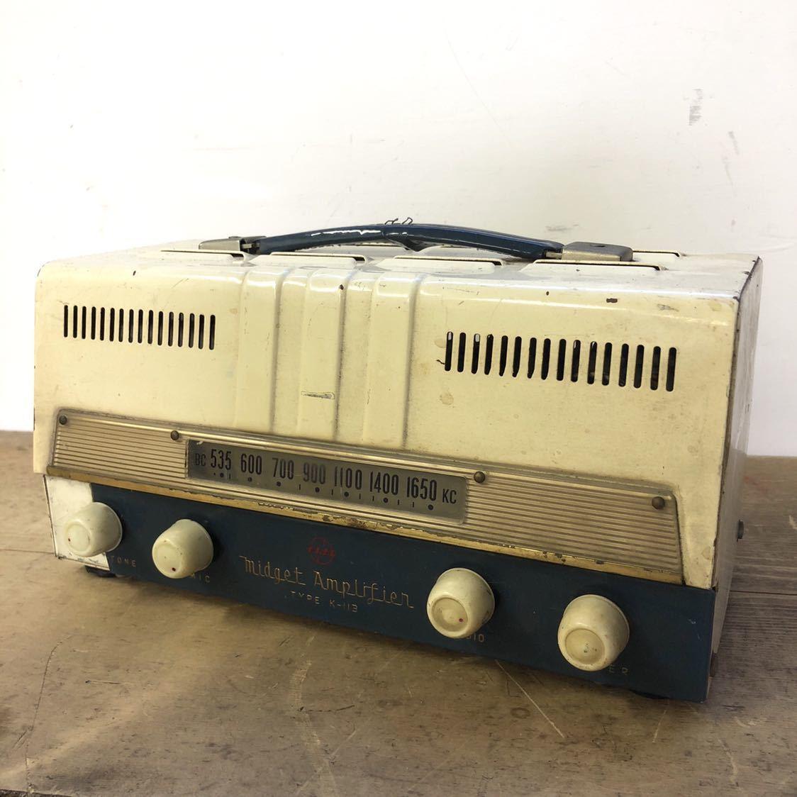 【ジャンク】 ナショナル 真空管 アンプ ラジオ midget amplifier ミッドナイト レトロ 昭和 アンティーク ヴィンテージ 部品取り