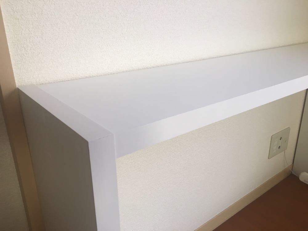 【直接引取OK】スリムデスク カウンター コンソールテーブル ホワイト 日本製 _画像2