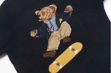 確実正規品 新品未使用 Place Polo Ralph Lauren Skate polo Bear Sweater Aviator Sサ