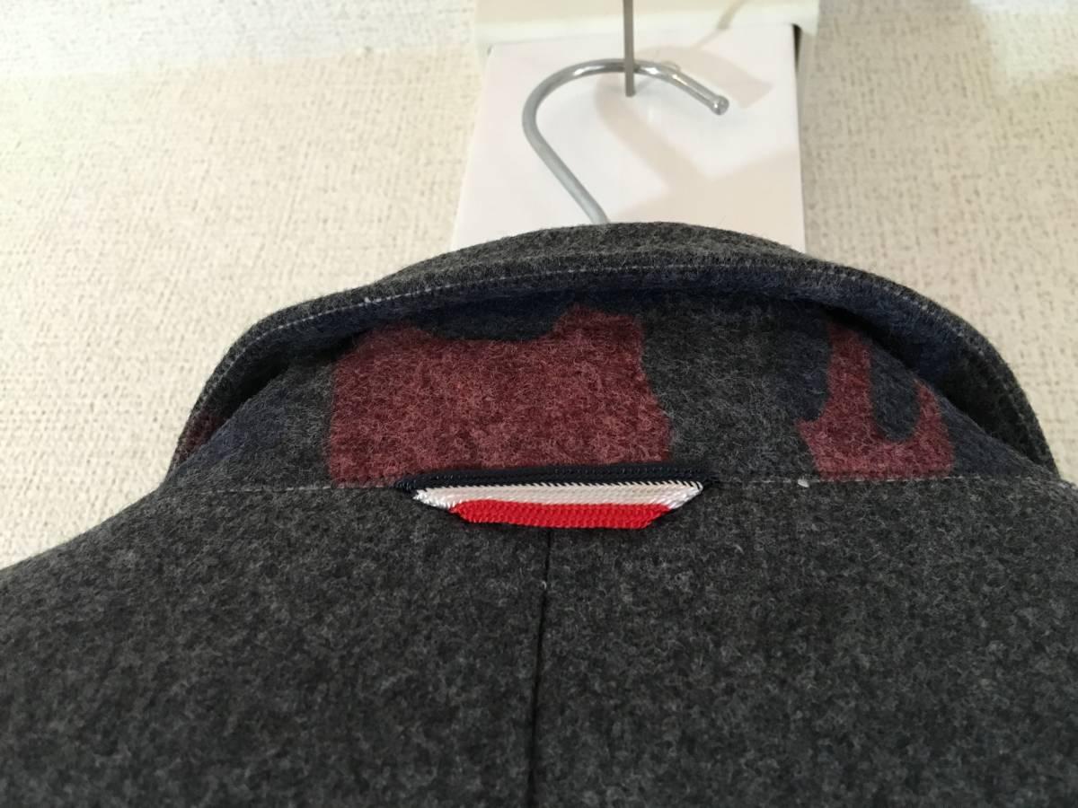 新品 本物 モンクレール ガムブルー ウール 100% ダウン ジャケット 2 MONCLER GAMME BLEU グレー シルバー コート_画像9