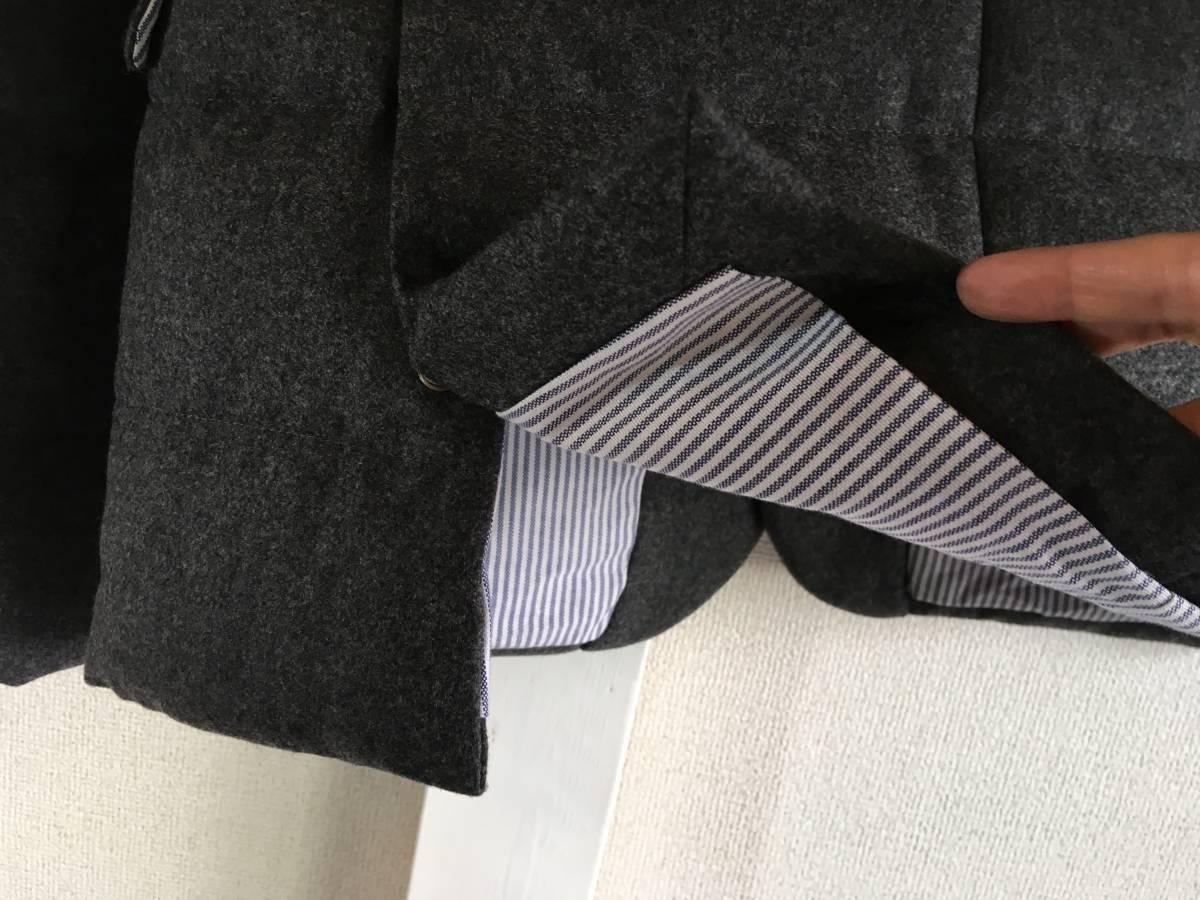 新品 本物 モンクレール ガムブルー ウール 100% ダウン ジャケット 2 MONCLER GAMME BLEU グレー シルバー コート_画像10
