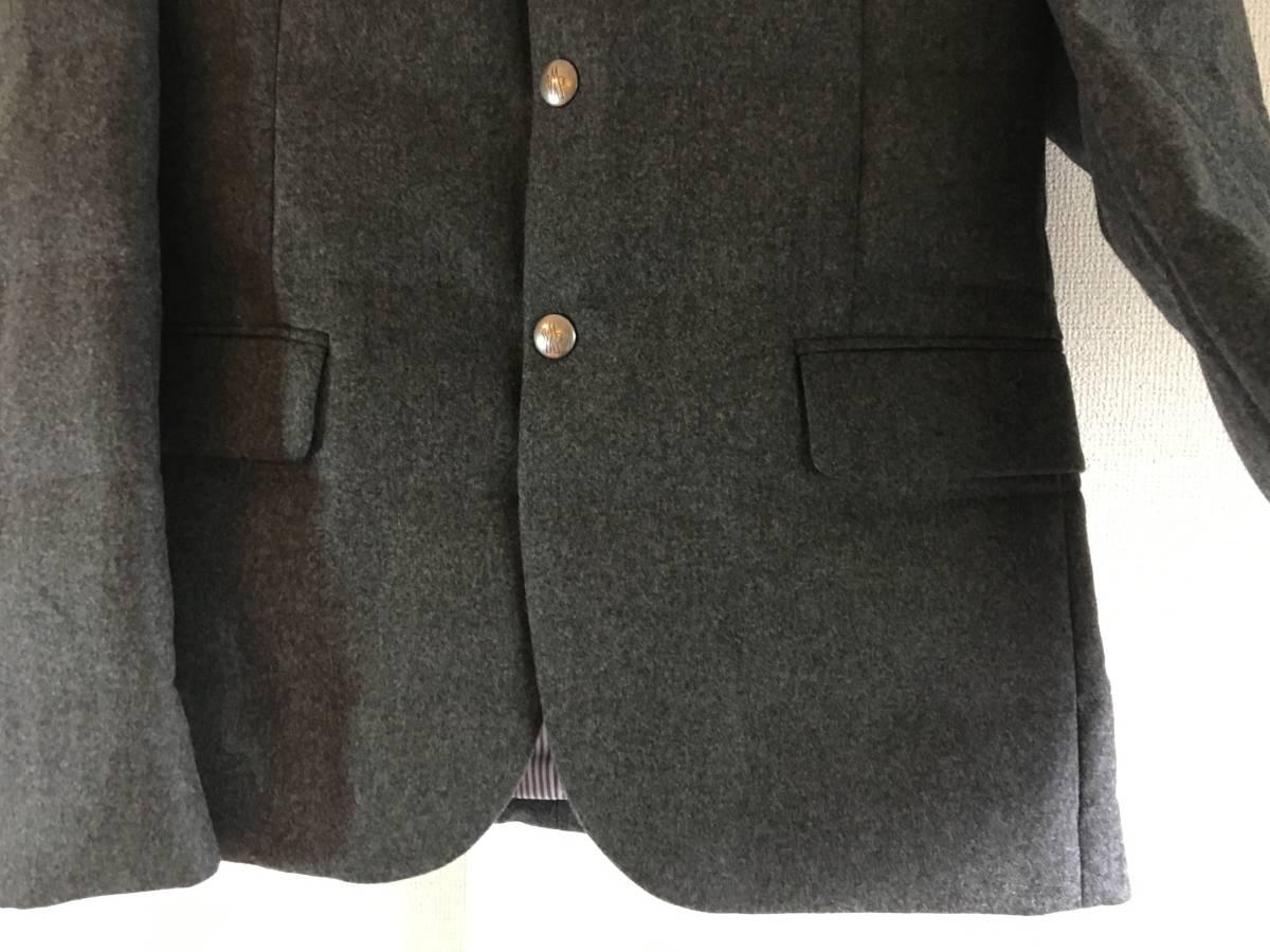 新品 本物 モンクレール ガムブルー ウール 100% ダウン ジャケット 2 MONCLER GAMME BLEU グレー シルバー コート_画像3