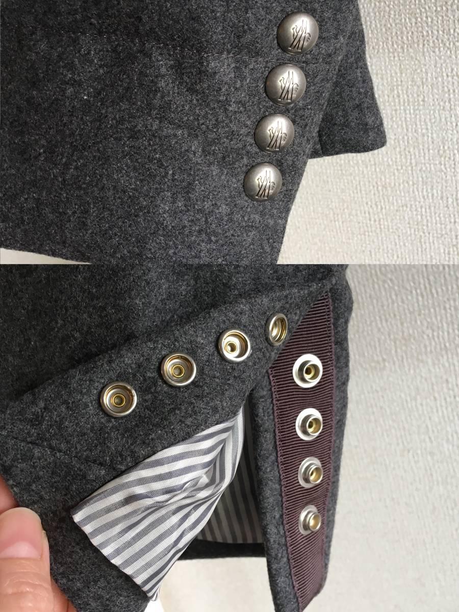 新品 本物 モンクレール ガムブルー ウール 100% ダウン ジャケット 2 MONCLER GAMME BLEU グレー シルバー コート_画像5