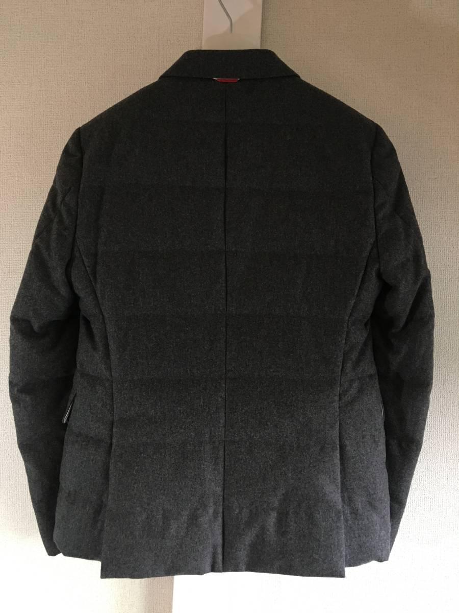 新品 本物 モンクレール ガムブルー ウール 100% ダウン ジャケット 2 MONCLER GAMME BLEU グレー シルバー コート_画像8