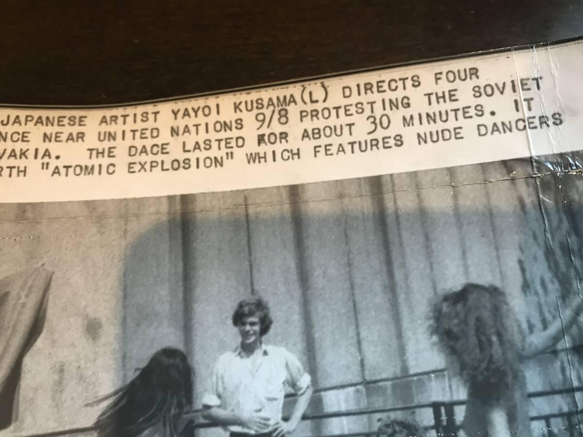 超入手困難【草間彌生 ヌードパフォーマンスオリジナル写真 1968年】ゼラチンシルバープリント チェコ侵攻 ベトナム戦争 ヒッピー MOMA_画像5