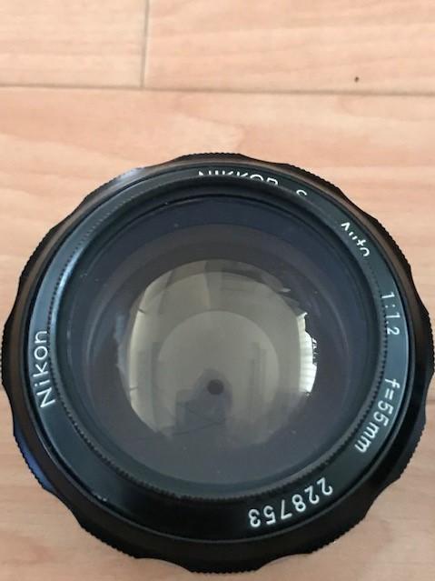【6116】 ニコン Nikon F ブラック フィルムカメラ NIKKOR-S Auto 1:1.2 f=55mm_画像7