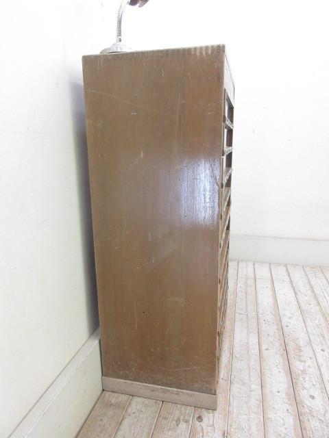 古い10杯引出し糸ケースH356  アンティークアトリエ店舗什器陳列棚カフェ什器古家具_画像5